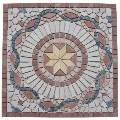 Mozaiek steentjes voor badkamer in medallion tegel