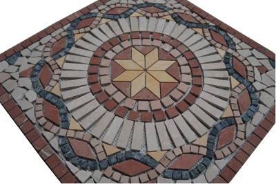 Marmer mozaiek tegel medallion