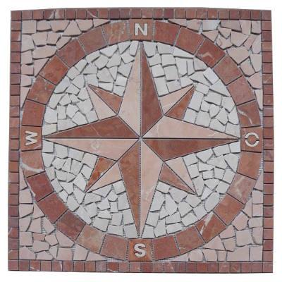 Marmer Natuursteen tegels in mozaiek medallion
