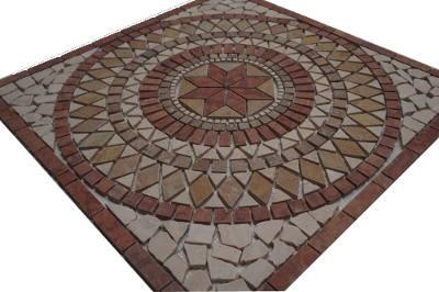 Marmer Natuursteen mozaiek tegel medallion