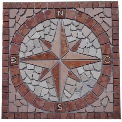 Mozaiek tegels van Rosso Verona Marmer