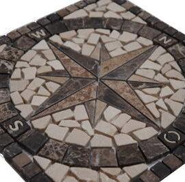 Mozaiek steentjes in medallion voor keuken en badkamer