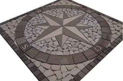 Marmer mozaiek tegels grijs