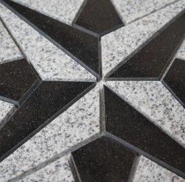 Vloertegels van graniet natuursteen