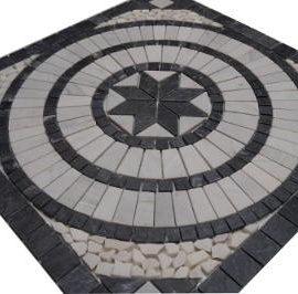 Marmer tegels van Bianco Carrara natuursteen