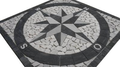 Marmer natuursteen Bianco Carrara mozaiek