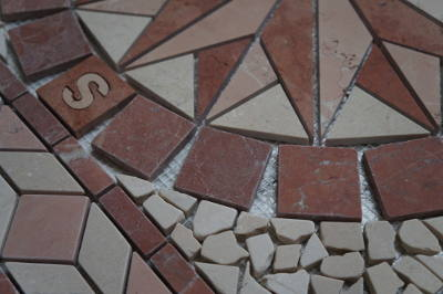 Mozaiek tegels van marmer natuursteen