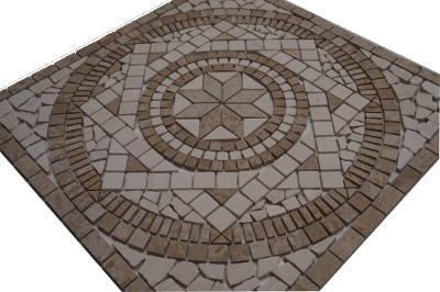 Mozaiek tegels van Jura marmer