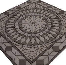 Mozaiek stenen grijs in medallion