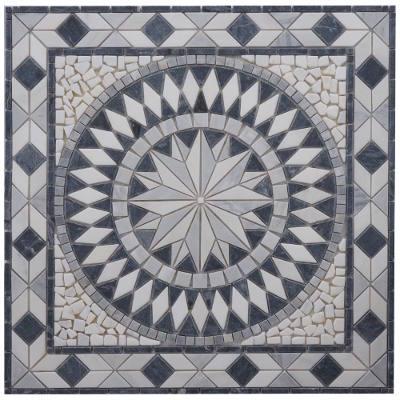 Mozaiek steentjes Bianco Carrara in tegels
