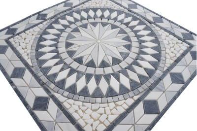 Badkamer vloertegels van Bianco Carrara marmer