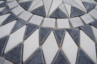 Vloertegels van Bianco Carrara natuursteen