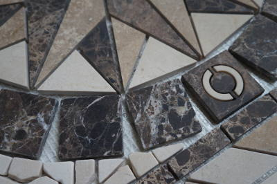 Mozaiek tegels voor badkamer vloer