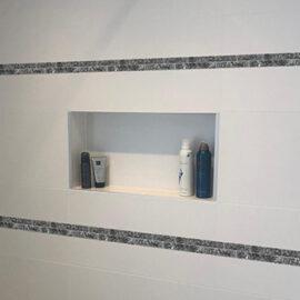 Tegelstrip Blue Pearl 2,3 badkamer inbouw