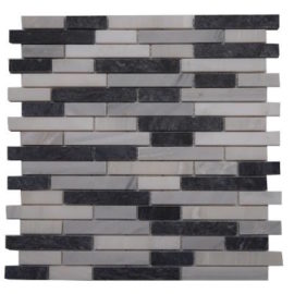 Mozaiek wandtegels van Bianco Carrara marmer
