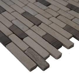 Mozaiek steentjes in vloertegels en wandtegels