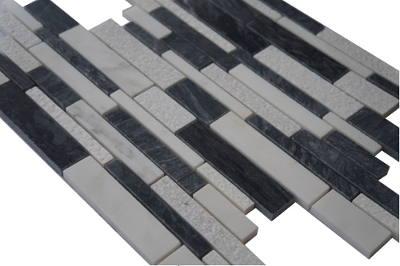 Mozaiek tegels zwart en antraciet voor vloer en wand