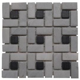 Mozaiek tegels grijs en zwart