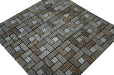 Mozaiek badkamertegels voor vloer en wand