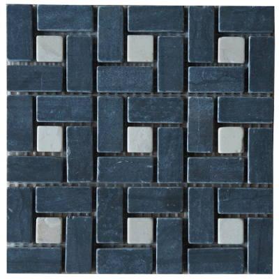 Mozaiek badkamertegels in zwart en wit
