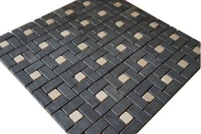 Mozaiek keukentegels in zwart en wit
