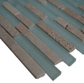 Mozaiek tegels glas en marmer