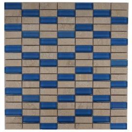 Glastegels blauw voor keukenwand en badkamerwand