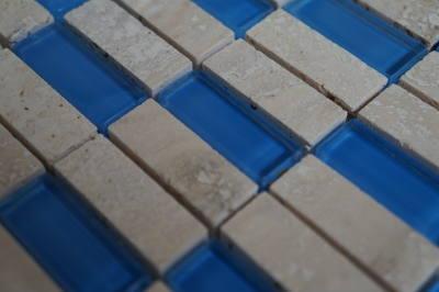 Glasmozaiek tegels wandtegels in blauw