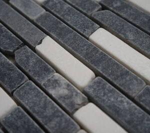 Mozaiek steentjes zwart en wit