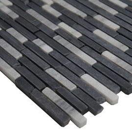 Vloertegels in zwart en wit marmer