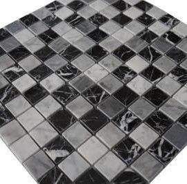 Mozaiek tegels van Bianco Carrara marmer