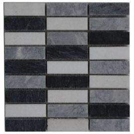 Mozaiek tegels met Bianco Carrara marmer