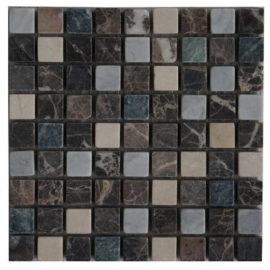 Mozaiek tegels bruin groen en wit