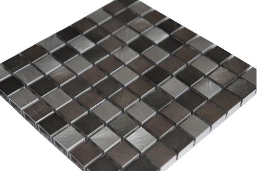 Mozaiek tegels aluminium 15x15cm M800-15 Topmozaiek24