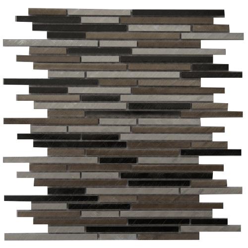 Mozaiek tegels aluminium 30x30cm M810 Topmozaiek24