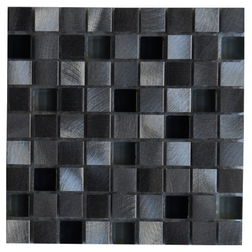 Mozaiek tegels aluminium glas 15x15cm M705 Topmozaiek24