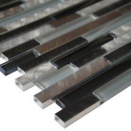 Mozaiek tegels aluminium glas 30x30cm M701-30 Topmozaiek24