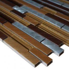 Mozaiek tegels aluminium glas 30x30cm M702-30 Topmozaiek24