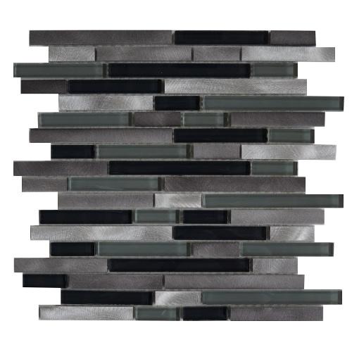 Mozaiek tegel aluminium glas 30x30cm M703-30 Topmozaiek24