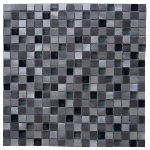 Mozaiek tegels aluminium glas 30x30cm M705 Topmozaiek24