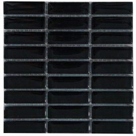 Mozaiek tegels glas zwart
