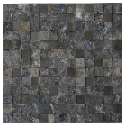 Mozaiek tegels marmer aluminium 30x30cm M753 Topmozaiek24