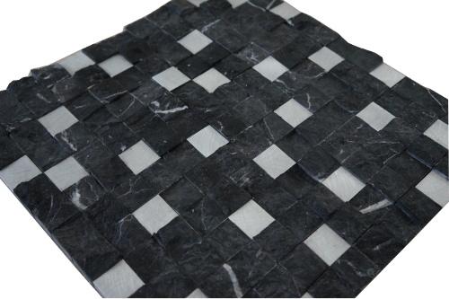 Mozaiek tegels marmer aluminium 30x30cm M754 Topmozaiek24