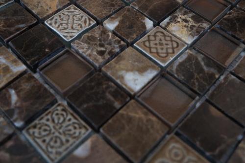Glas Mozaiek Tegels : Mozaiek tegels met ornamenten natuurlijk bij topmozaiek