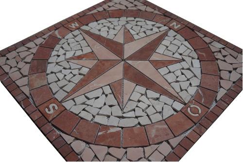 Mozaiek tegels medallion 60x60cm 018 Topmozaiek24