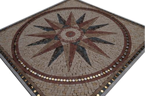 Mozaiek tegels medallion 60x60cm Sonne Topmozaiek24