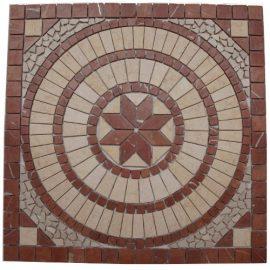 Mozaiek tegels medallion 66x66cm 043 Topmozaiek24
