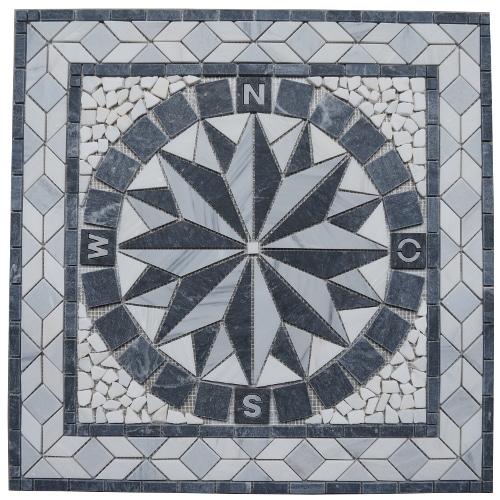 Mozaiek tegels medallion 67x67cm 051 Topmozaiek24