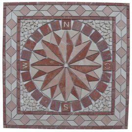 Mozaiek tegels medallion 67x67cm 052 Topmozaiek24