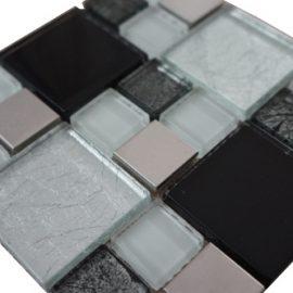 Mozaiek tegels rvs glas 15x15cm M711-15 Topmozaiek24